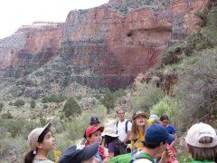 Sixth Graders Hiking
