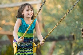 Child Swinging at Tucson Waldorf